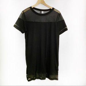 💥 H&M Black Mesh T-Shirt Dress
